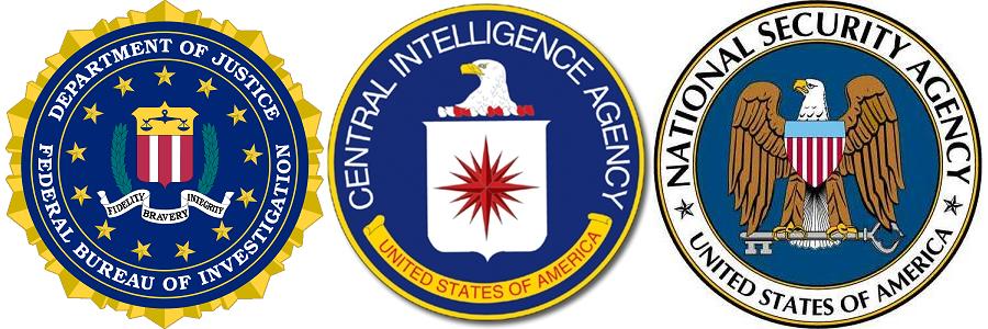 FBI CIA NSA Logotypy
